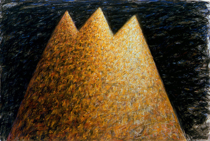 Joke van den Berg - Golden Koubba - Pastel on paper